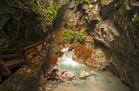 Stream in the Wolfsklamm gorge, Stans, Karwendel Mountains, Tyrol, Austria, Europe