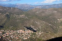 The village of Levens, Alpes-Maritimes, French riviera, Provence-Alpes-C&#244;te d'Azur, France