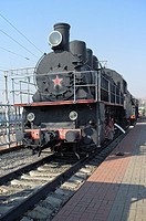 Old Russian steam locomotive Em-740-57  Built in 1935