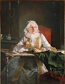Jacques Andre' Joseph Aved (1702-1766), Portrait of Madame Crozat, 1741, oil on canvas.  Montpellier, Musée Fabre (Picture Gallery)