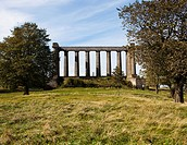 This partially completed replica of the Parthenon is known as the Scottish National Monument. Located on Calton Hill near the center of Edinburgh in S...