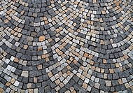 Closeup view on a cobblestone road _ pattern _ background