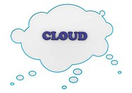 Cloud with the text ´Cloud Computing´ on white background.