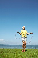 Senior Woman Jumping Rope