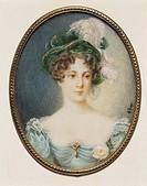 Michele Cilea, Miniature portrait of a lady.  Palmi, Casa Della Cultura Museo Francesco Cilea-Nicola Antonio Manfroce (Art Museum)
