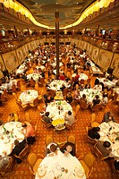 dining room, cruise ship, costa mediterranea, costa crociere cruise line