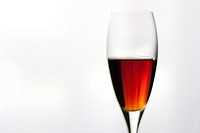 Closeup of a liquor crystal glass