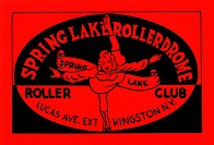 Stickers were issued by roller rinks across the United States. Many were stock designs imprinted with the local skating facility. This was for the Spr...