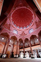 Dome interior view, The Putra Mosque is one of the prominent landmarks of Putrajaya