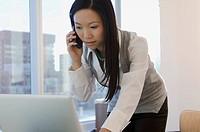 Asian businesswoman at modern office