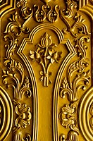 gold lotus door in Thailand´s temple. In Thailand´s temple is free license