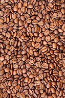 A view from above of coffee grains _ medium shot