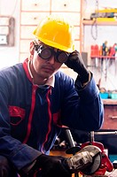 Industrial worker and his tools