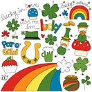 Vector image displaying a St. Patrick´s Day theme.