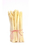 Bundle of asparagus with ribbon