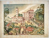 Italy, Villa Imperiale on Monte San Bartolo above Pesaro, 15th century