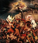 Martyrdom of Saint Catherine, by Jacopo Bassano (ca 1510-1592).  Bassano Del Grappa, Museo Civico (Art Museum)