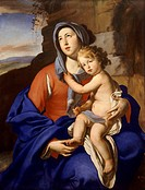 Madonna and Child, by Massimo Stanzione (1585-1656).  Private Collection
