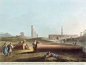 The ruins of the gymnasium near the Canopic Gate in Alexandria, 1804, by Luigi Mayer, engraving from Views in Egypt, 19th Century.
