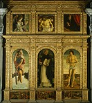 St Vincent Ferrari Triptych, by Giovanni Bellini, known as Giambellino (ca 1430-1516). Church of Santi Giovanni e Paolo, Venice.