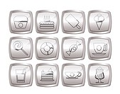 Sweet food and confectionery icons _ vector icon set