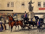 A walk along Graben Street (Ditch Street) in Vienna, Austria 19th Century.