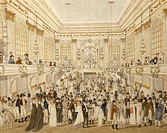 Austria, 19th century. Ball at the Vienna Ridotto hall. Watercolor.  Vienna, Historisches Museum Der Stadt Wien (History Museum)