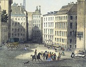 Freyung Square in Vienna, Austria 19th Century.