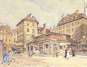 St Peter Square in Vienna, by Ernst Graner (1865-1943), Austria 19th Century.  Vienna, Historisches Museum Der Stadt Wien (History Museum)
