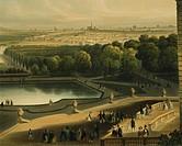 View of Schoenbrunn Palace in Vienna, Austria 19th Century. Watercolour.  Vienna, Historisches Museum Der Stadt Wien (History Museum)
