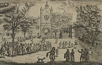 Church and procession in Geneve,1675, Switzerland 17th Century