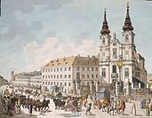 Church of Mariahilf in Vienna, Austria 18th Century.