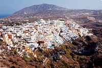 Townscape of Ija on island Santorini