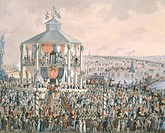 Ceremony at Vienna Prater, Austria 19th Century.