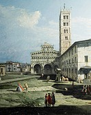 Piazza San Martino in Lucca, 1742_1746, by Bernardo Bellotto, known as Canaletto 1721_1780 Oil on canvas, 50.8 cmx72, Detail