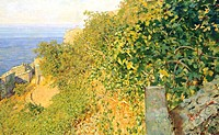 On the island of Elba, by Telemaco Signorini (1835-1901).  Genoa Nervi, Galleria D'Arte Moderna (Art Gallery)