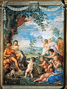 The Golden Age or rather the peaceful life of a young man in flourishing nature, detail from The Four Ages of Man, 1637-1640, by Pietro da Cortona (15...