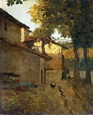 The last sun, by Luigi Bertelli (1833-1916).  Bologna, Pinacoteca Nazionale Di Bologna (Art Gallery, Paintings)
