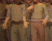 The Fourth State, by Giuseppe Pellizza da Volpedo, detail, 1901, oil on canvas
