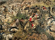 The Battle of Dogali, by Michele Cammarano (1835-1920). Detail.  Rome, Galleria Nazionale D'Arte Moderna (National Gallery Of Modern Art)