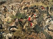 The Battle of Dogali, by Michele Cammarano (1835-1920). Detail.  Rome, Galleria Nazionale D'Arte Moderna (National Gallery Of Modern Art)