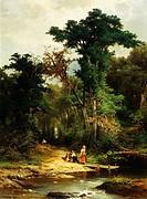 Stream in a wood, by Pietro Marzorati (1829-1895).  Milano, Civiche Raccolte D'Arte Museo Dell'Ottocento Villa Belgiojoso Bonaparte