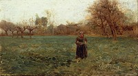 End of autumn, 1891, by Giuseppe Pelizza da Volpedo (1868-1907), oil on panel, 24x36.5 cm.  Private Collection