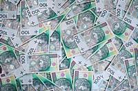 Polish 100 zloty banknotes