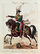 Militaria, Russia, 19th century. Uniforms of the Russian army: cavalry superior officer.  Paris, Musée De L'Armée (Army Museum)