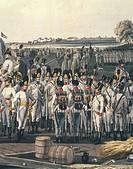 Militaria, Austria, 19th century. Napoleonic wars. Austrian infantry. Watercolor.  Paris, Musée De L'Armée (Army Museum)