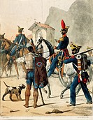 Militaria, Italy, 19th century. Neapolitan Artillery, 1820  Paris, Bibliothèque Des Arts Decoratifs (Library)