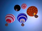 Balloon against the blue sky