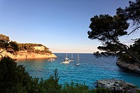 Spain, Balearic Islands, Menorca Minorca, Cala Mitjana beach