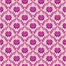 Seamless floral damask pattern. Flowers on a rose background.